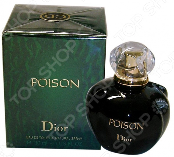 Туалетная вода для женщин Christian Dior Poison, 30 мл туалетная вода для женщин christian dior addict 50 мл