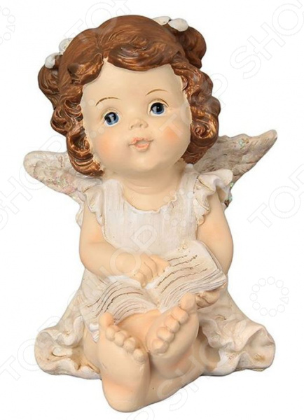 Фигурка декоративная Elan Gallery «Ангелочек с книгой» elan gallery фигурка декоративная ангелочек со свечкой