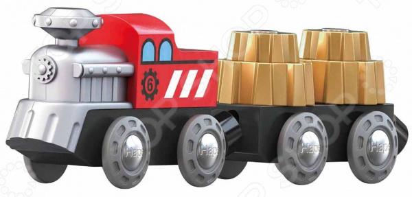 Игровой набор: тепловоз и вагоны Hape «Зубчатый поезд»