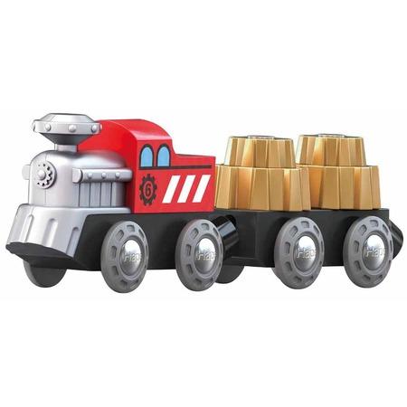 Купить Игровой набор: тепловоз и вагоны Hape «Зубчатый поезд»