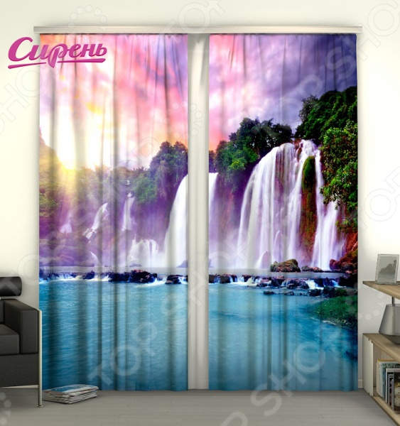 Фотошторы Сирень «Радужный водопад»