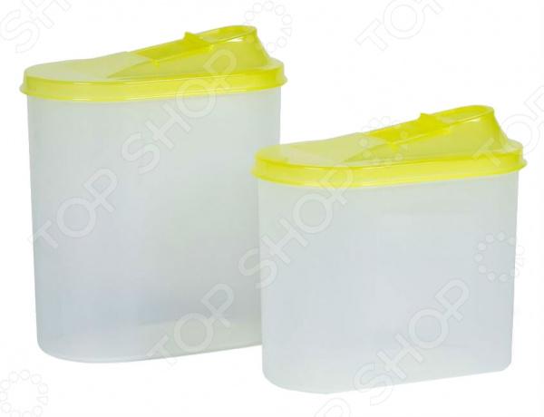 Набор банок для сыпучих продуктов Полимербыт SGHPBKP56 «Овал»