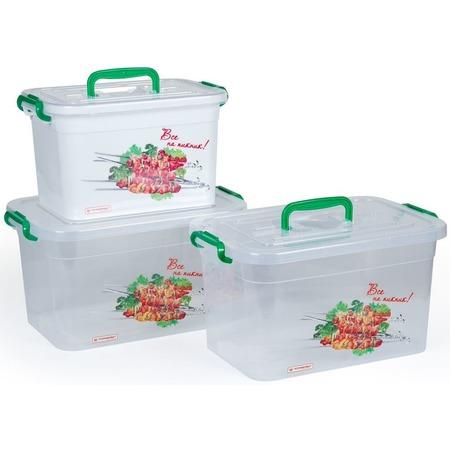 Купить Набор контейнеров для шашлыка Полимербыт SGHPBKP18 «Все на пикник»