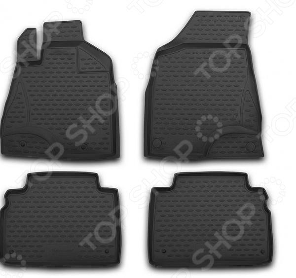 Комплект ковриков в салон автомобиля Novline-Autofamily Honda Civic 5D 2006 коврик в багажник honda civic 5d 2006 2012 хб полиуретан