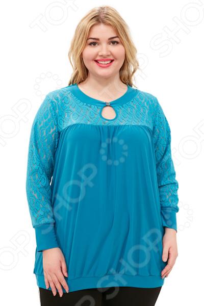 Блуза Pretty Woman «Утонченность». Цвет: бирюзовый