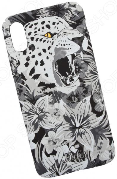 лучшая цена Чехол для iPhone X KUtiS Monochrome AK-4 «Гепард»