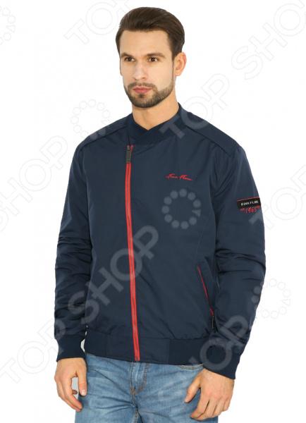 Куртка Finn Flare B17-22010. Цвет: темно-синий
