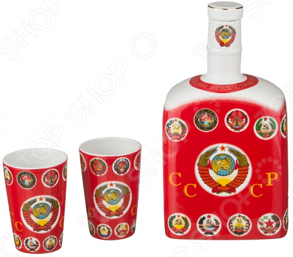 Набор подарочный: штоф и рюмки Lefard 85-1248 подарочный набор для крепких напитков филин на 6 персон 34см 664942