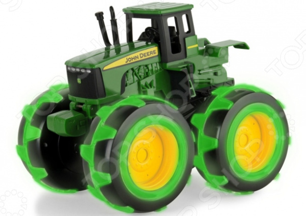 Трактор игрушечный Tomy John Deere Monster Treads машинки tomy машинка tomy john deere реверсивные monster treads