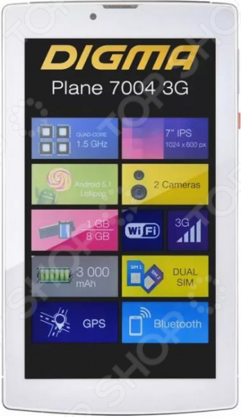 все цены на Планшет Digma Plane 7004 3G