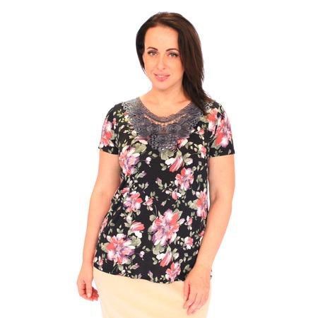 Купить Блуза Wisell «Эсмеральда». Цвет: черный, серый