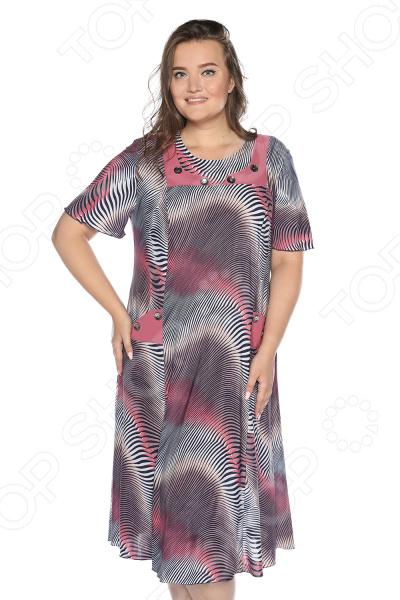 Платье NOVA STYLE «Ласковое утро». Цвет: брусничный