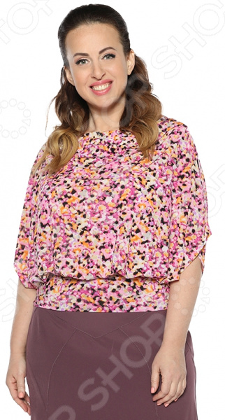 Блузка Milana Style «Грандесса». Цвет: розовый платье milana style milana style mi038ewxjv28