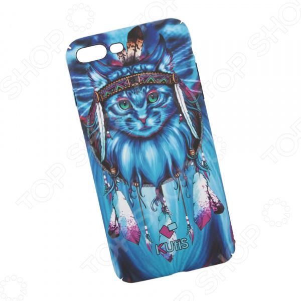Чехол для iPhone 7 Plus/8 Plus KUtiS Animals OK-3 «Кот» чехол для iphone 7 8 kutis rainbow hairs dk 8