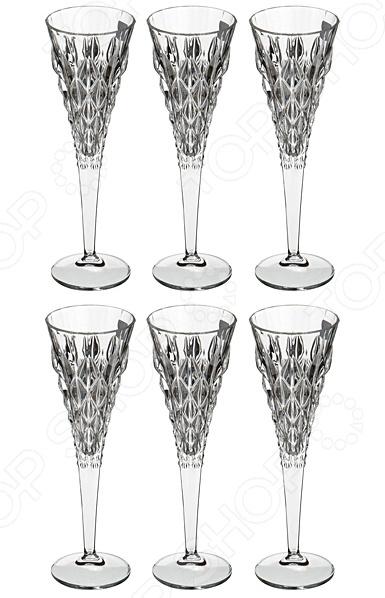 Набор бокалов для шампанского RCR «Энигма» 305-573 набор бокалов crystalex ангела оптика отводка зол 6шт 400мл бренди стекло