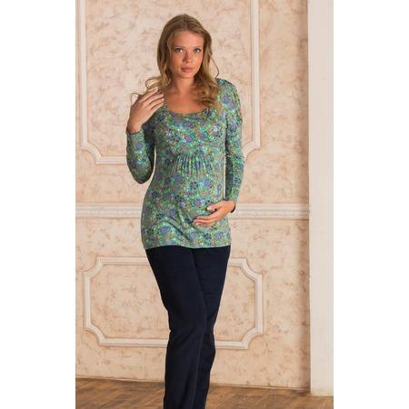 Купить Кофта для беременных Nuova Vita 1301.05. Цвет: зеленый