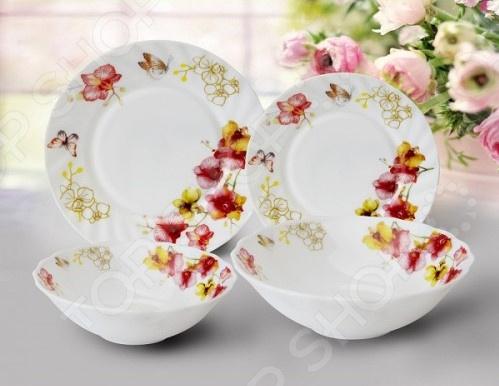 Сервиз столовый МФК «Орхидеи». Количество предметов: 19 шт