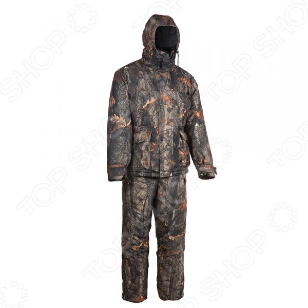 Костюм для охоты и рыбалки зимний Huntsman «Памир». Рисунок: темный лес