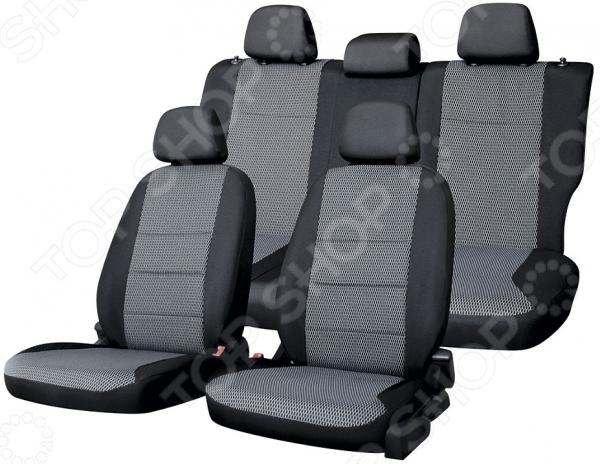 Набор чехлов для сидений Defly Hyundai Solaris, 2011-2017, седан