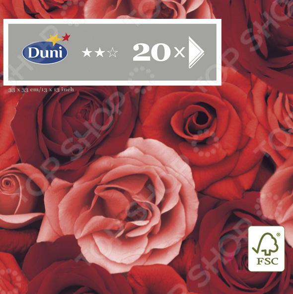 Салфетки бумажные Duni Romance 164896