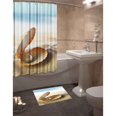 Купить Набор для ванной комнаты: шторка и коврик ТамиТекс «Жемчужина»