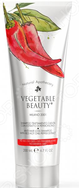 VEGETABLE BEAUTY шампунь против выпадения волос с экстрактом красного чили перца