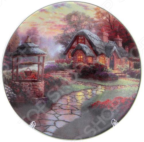 Тарелка декоративная Elan Gallery «Домик в деревне» как дом в деревне на мат капиталл