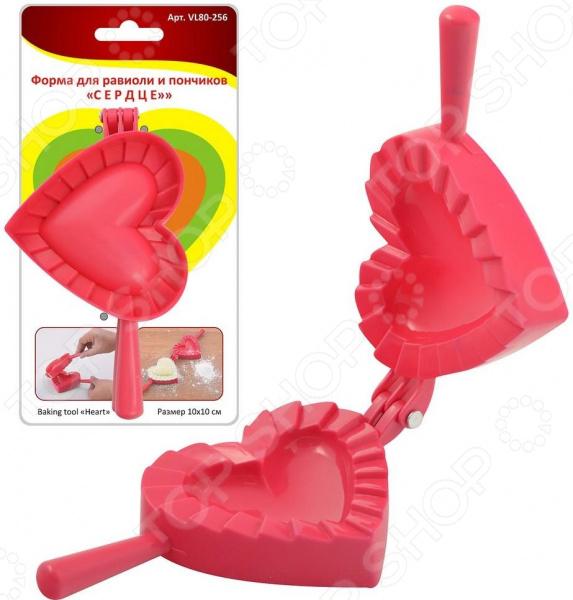 Форма для равиоли и пончиков Мультидом «Сердце» VL80-256 форма для изготовления чебуреков мультидом vl80 220 в ассортименте