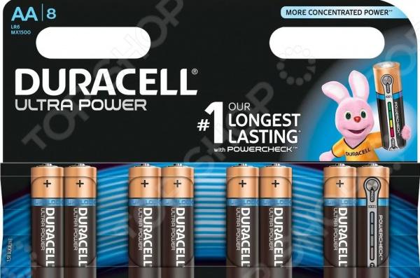 Набор батареек щелочных Duracell LR6-8BL Ultra Power батарейки duracell аа lr6 2bl basic cn 2 шт