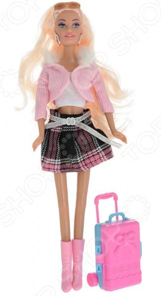 Кукла с аксессуарами Toys Lab «Блондинка в розовой кофте: Путешественница»