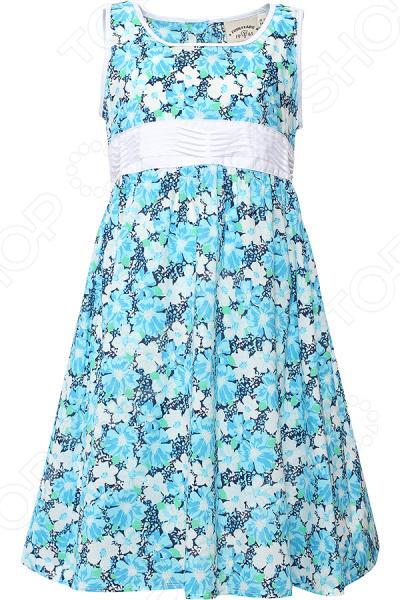 Платье для девочки Finn Flare KS16-71009. Цвет: голубой