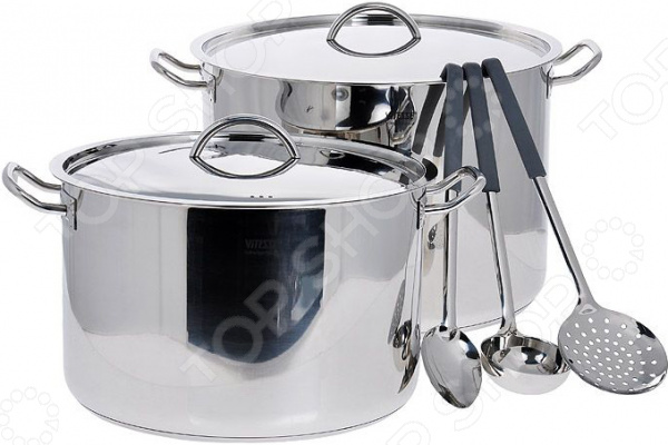 Набор кастрюль и кухонных принадлежностей Vitesse VS-2013 набор кухонных принадлежностей коралл розы