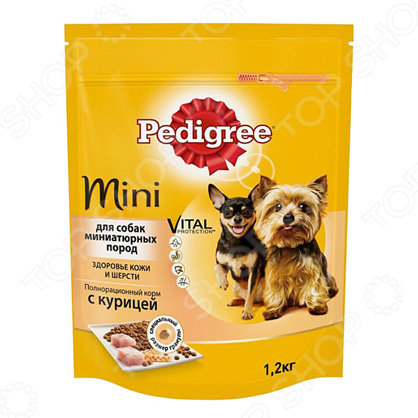 Корм сухой для собак миниатюрных пород Pedigree Mini Vital PROTECTION с курицей