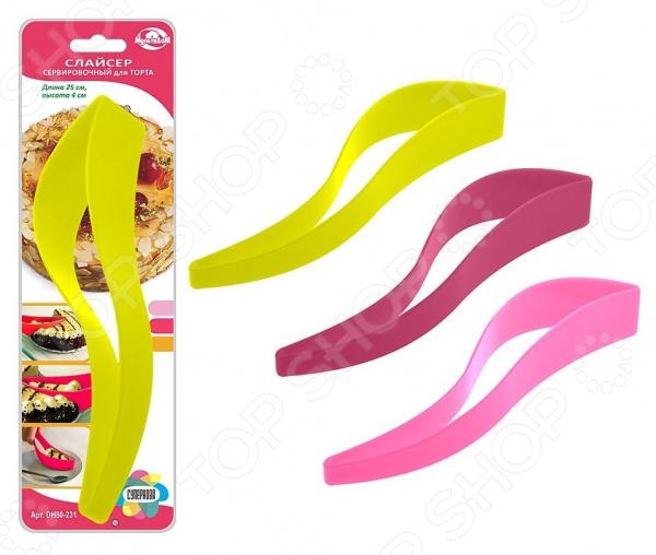 Нож-прихватка для тортов и пирожных Мультидом DH80-231. В ассортименте
