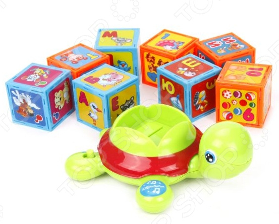 Игрушка обучающая музыкальная Азбукварик «Черепашка Умняшка с кубиками» обучающая книга азбукварик моя мечта 9785402002180