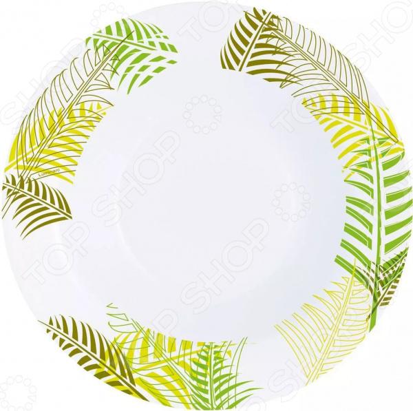 Тарелка суповая Luminarc Green Forest блюда elff ceramics тарелка банановый лист it green