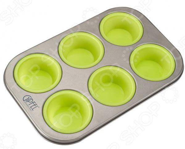 Набор форм для выпечки силиконовый Gipfel 0314 форма для выпечки 6 кексов gipfel twinkle 0314