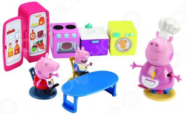 Игровой набор с фигуркой Peppa Pig «Кухня Пеппы» игровой набор peppa pig семья пеппы папа свин и джорж 2 предмета от 3 лет 20837