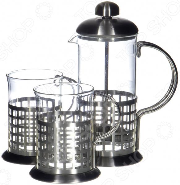 Френч-пресс с набором чашек Guterwahl YM-S2-006/350 набор кофейный guterwahl 3 предмета ym s2 014 600