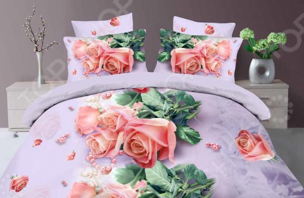 Комплект постельного белья Бояртекс «Розовый жемчуг». 1,5-спальный