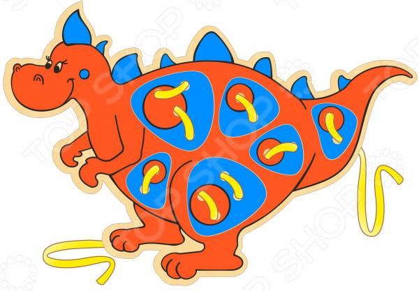 Игрушка развивающая WOODY «Шнурозаврик-2» мягкая игрушка интерактивная woody o time лошадка непоседа