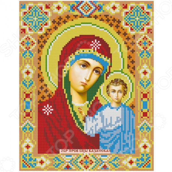 Набор для создания картины со стразами Алмазная живопись «Икона Казанская Богородица»