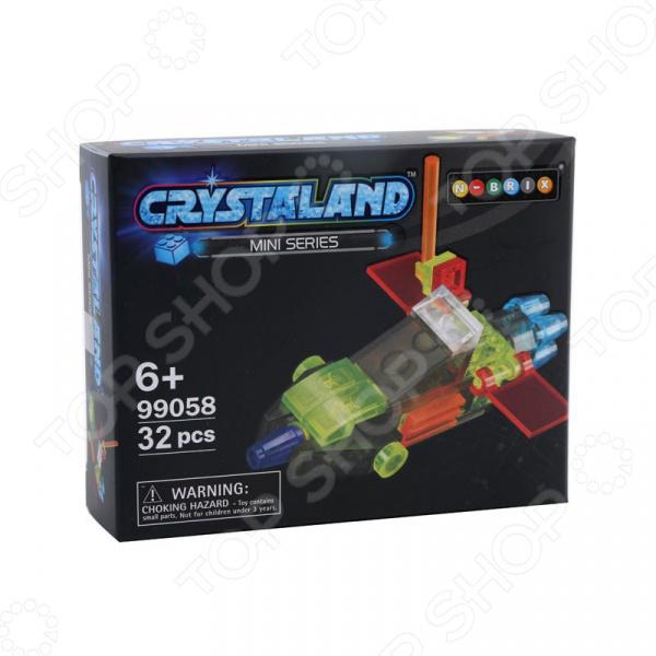 Конструктор игрушечный N-BRIX Crystaland «Беспилотный Самолет» конструктор crystaland shg006 истребитель 4 в 1 67 дет