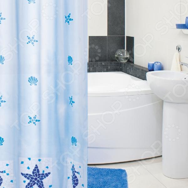 Штора для ванной Tatkraft Marine Motifs Textile