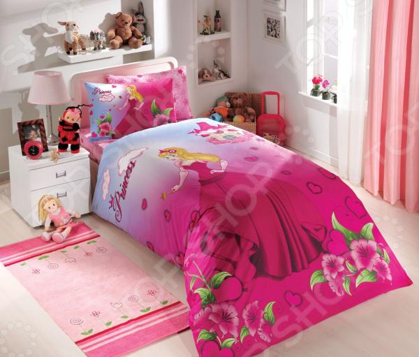Детский комплект постельного белья Hobby Home Collection Prenses. Цвет: фуксия