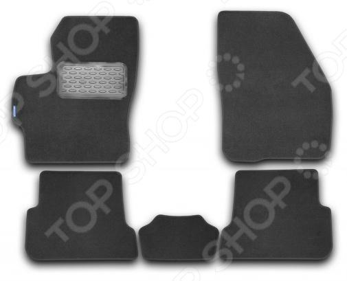 Комплект ковриков в салон автомобиля Novline-Autofamily Mazda 3 2003-2009 седан. Цвет: черный комплект 3d ковриков в салон автомобиля novline autofamily ford mondeo 2015