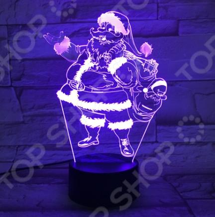 Светильник 3D «Санта-Клаус»