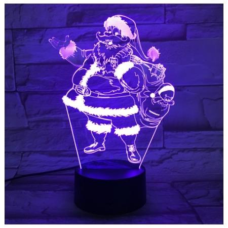 Купить Светильник 3D «Санта-Клаус»