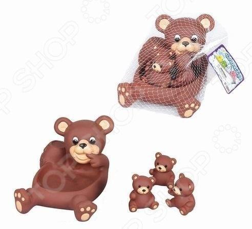 Набор игрушек для купания Наша Игрушка «Медвежата» букет из игрушек toy bouquet медвежата зефирки цвет красный 7 игрушек