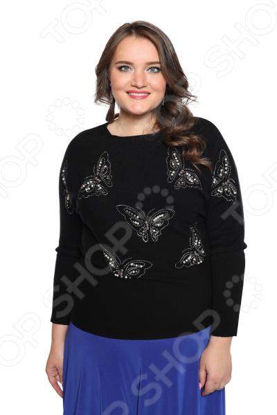 Джемпер Milana Style «Жемчужная бабочка». Цвет: черный юбка milana style цвет черный